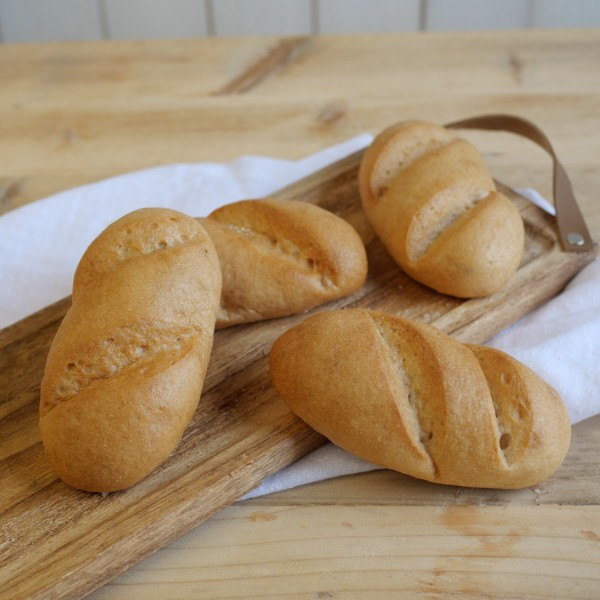 Baguette-Brötchen, 4 Stück