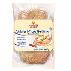 Vollwert-Toastbrötchen, 4 Stück, haltbar