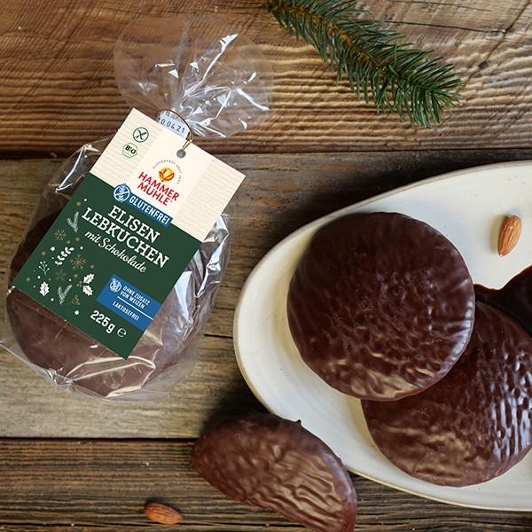 Bio Elisenlebkuchen mit Schokolade