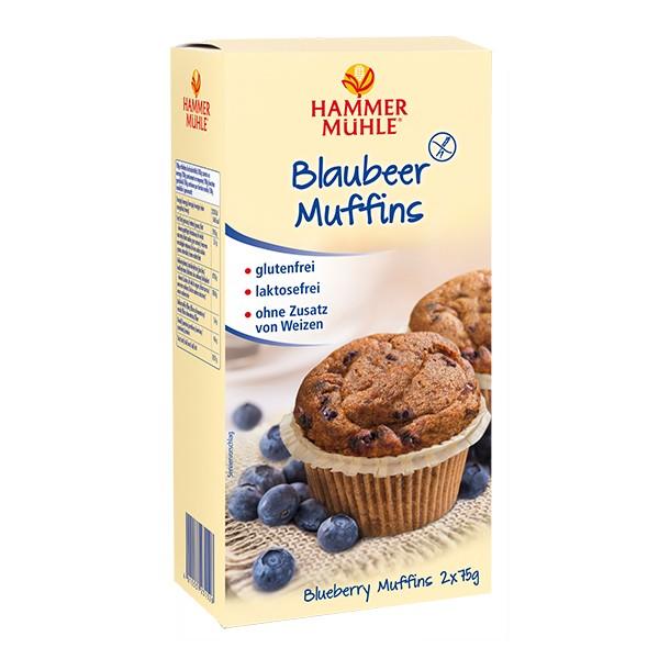 Blaubeer Muffins, 2 x 75 g