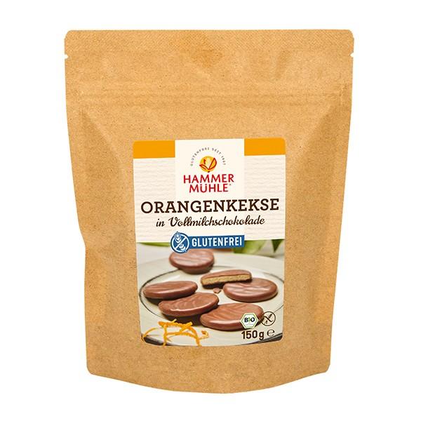 Bio Orangenkekse in Vollmilchschokolade