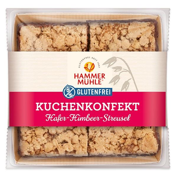 Kuchenkonfekt Hafer-Himbeer-Streusel, MHD 17.01.2021