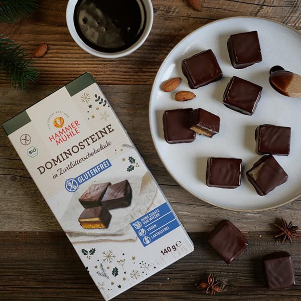 Bio Dominosteine in Zartbitterschokolade